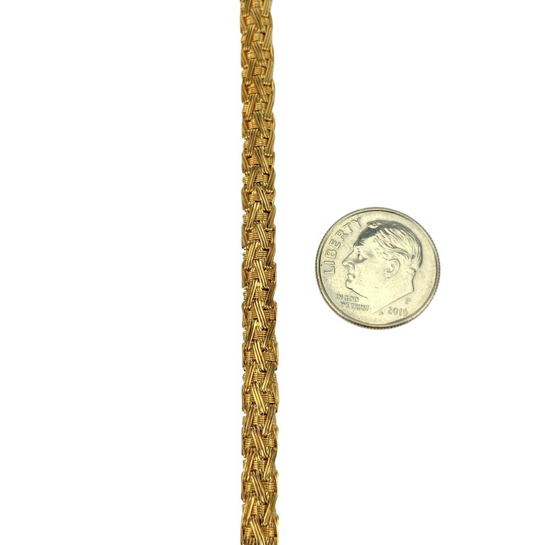 Women's Tiffany & Co. 18 Karat Yellow Gold Flex Weave Ladies Bracelet For Sale