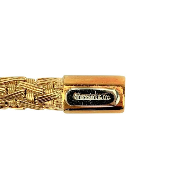 Tiffany & Co. 18 Karat Yellow Gold Flex Weave Ladies Bracelet For Sale 3