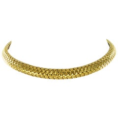 Tiffany & Co. 18 Karat Yellow Gold Flexible Collar Necklace
