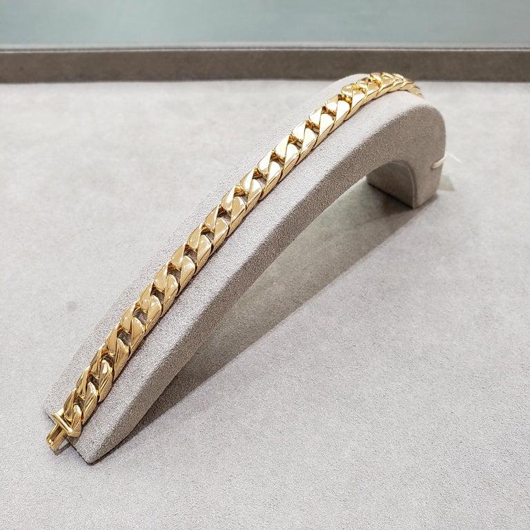 Tiffany & Co. 18 Karat Yellow Gold Cuban Link Bracelet For Sale 1