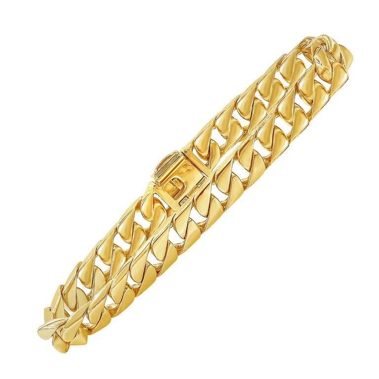 Tiffany & Co. 18 Karat Yellow Gold Cuban Link Bracelet For Sale