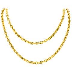 Tiffany & Co. 18 Karat Yellow Gold Geometric Unisex Link Necklace