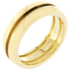 2fdf59c0f Tiffany and Co. 925 Sterling Silver 18 Karat Gold Atlas Groove Band ...