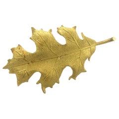 Tiffany & Co. 18 Karat Yellow Gold Holly Leaf Brooch Pin