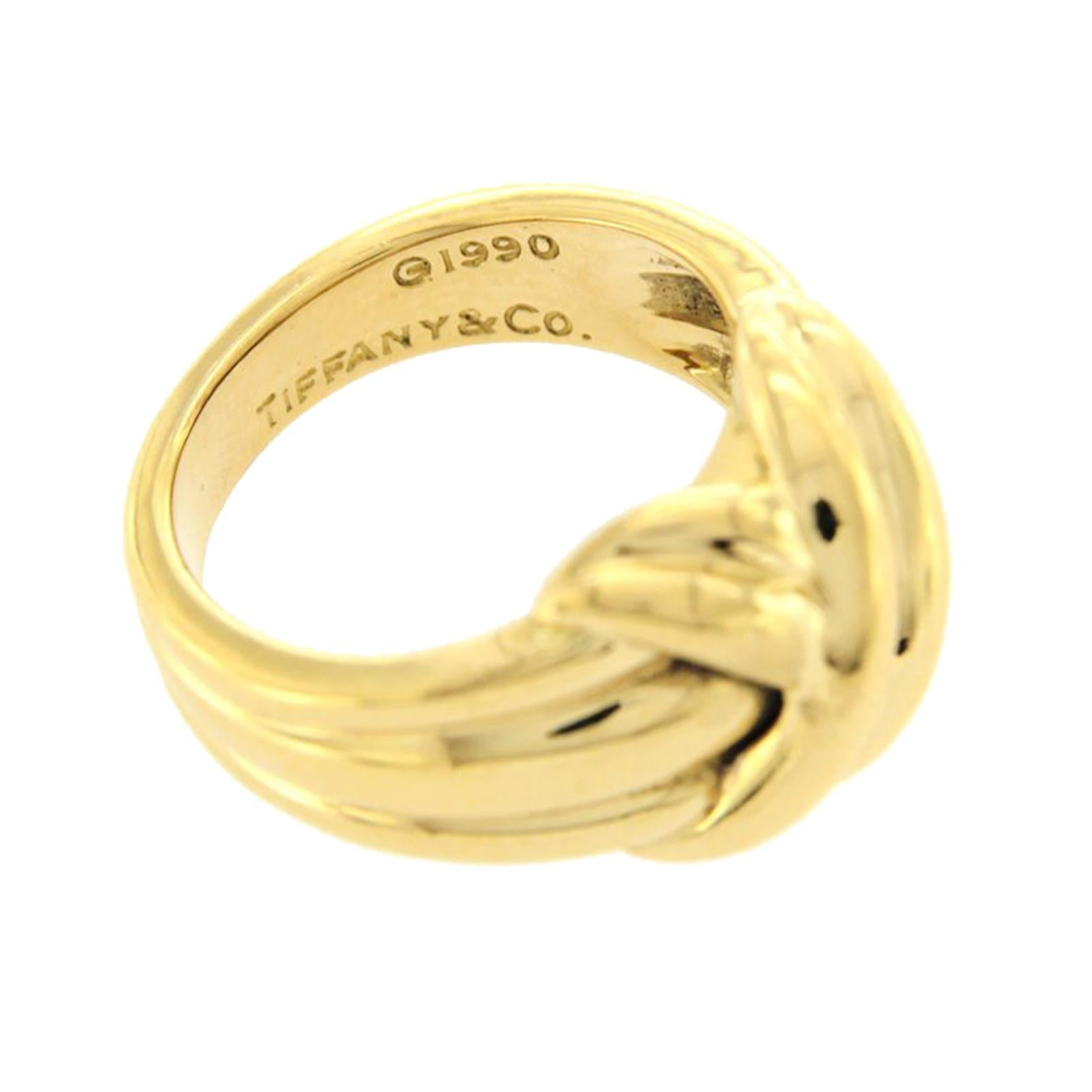 4e39f9dea2d2d Tiffany & Co. 18 Karat Yellow Gold Large Knot, 1990,