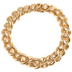 Tiffany & Co. 18 Karat Yellow Gold Link Bracelet
