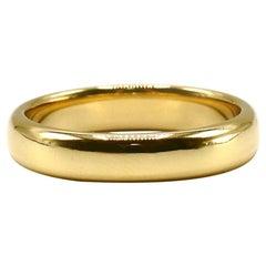 Tiffany & Co. 18 Karat Yellow Gold Men's Wedding Band Ring