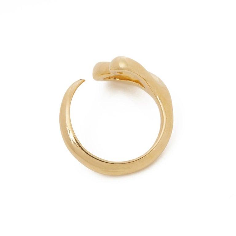Tiffany & Co. 18 Karat Yellow Gold Open Heart Elsa Peretti Ring For Sale 1