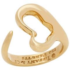 Tiffany & Co. 18 Karat Yellow Gold Open Heart Elsa Peretti Ring