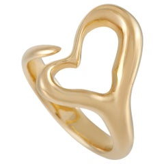 Tiffany & Co. 18 Karat Yellow Gold Open Heart Sculpted Ring