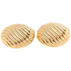 Tiffany & Co. 18 Karat Yellow Gold Oval Cufflinks