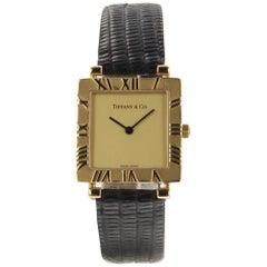 Tiffany & Co. 18 Karat Yellow Gold Quartz Watch L3630 Tiffany Box