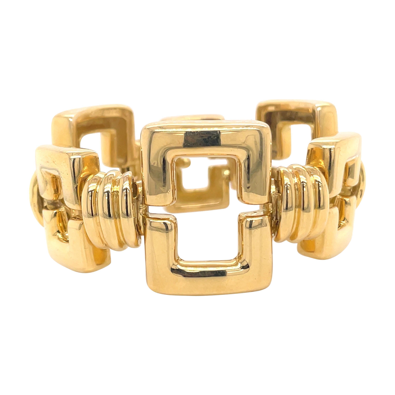 Tiffany & Co. 18 Karat Yellow Gold Rectangle Link bracelet