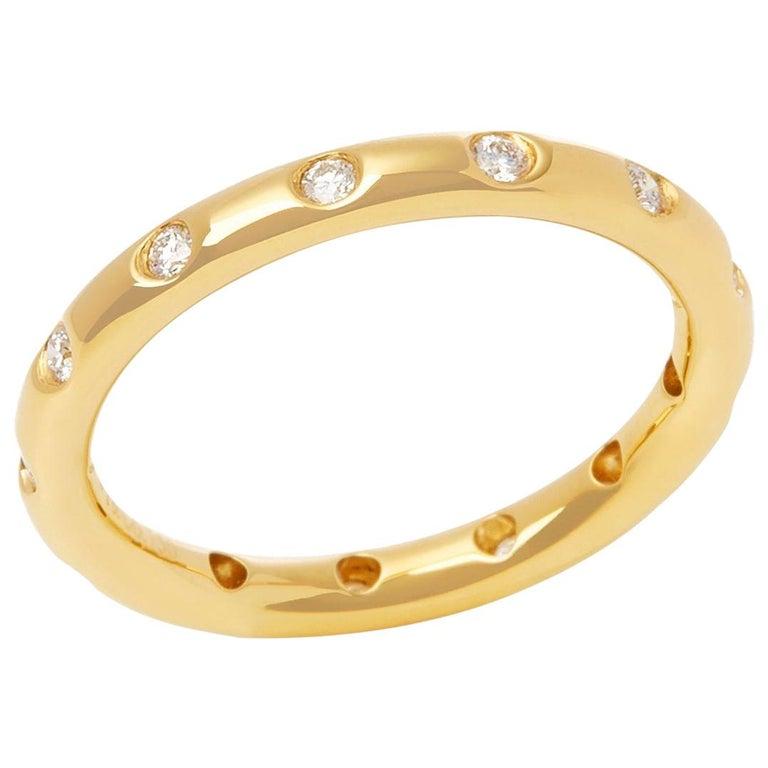 Tiffany & Co. 18 Karat Yellow Gold Round Brilliant Cut Diamond Eternity Ring