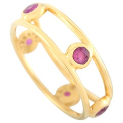 Tiffany & Co. 18 Karat Yellow Gold Ruby Ring