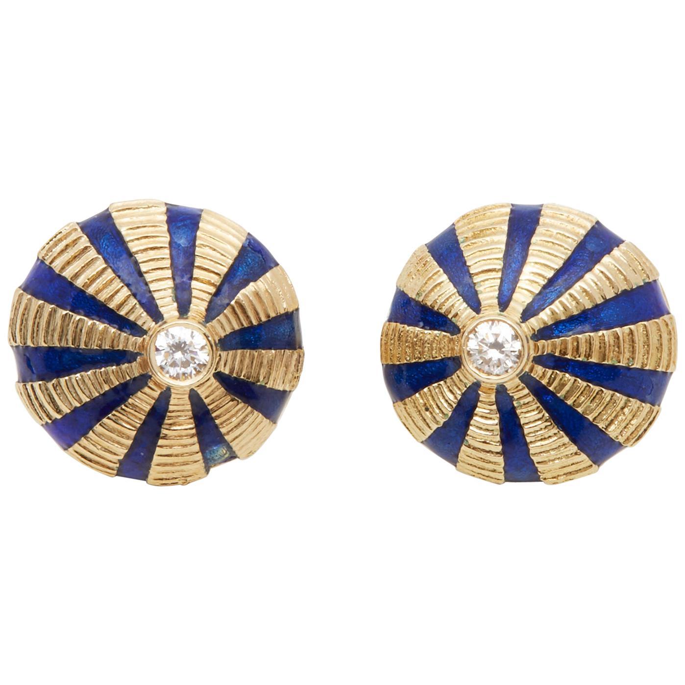 Tiffany & Co 18 Karat Yellow Gold Schlumberger Earrings