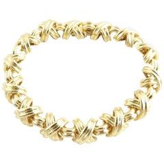 Tiffany & Co. 18 Karat Yellow Gold Signature X Bracelet 50g
