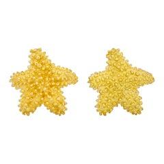 Tiffany & Co. 18 Karat Yellow Gold Starfish Stud Earrings