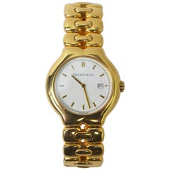 Tiffany & Co. 18 Karat Yellow Gold Tesoro Quartz Watch