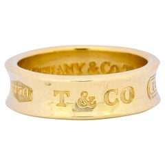 Tiffany & Co. 18 Karat Yellow Gold Tiffany 1837 Band Ring