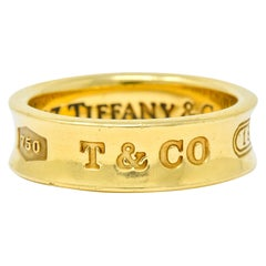Tiffany & Co. 18 Karat Yellow Gold Tiffany 1837 Band Ring