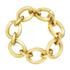 Tiffany & Co. 18 Karat Yellow Gold Twisted Oval Link Bracelet