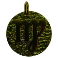 Tiffany & Co. 18 Karat Yellow Gold Virgo Zodiac Charm Pendant Vintage and Rare
