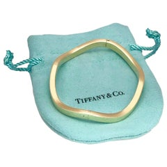 Tiffany & Co. 18 Karat Yellow Gold Wavy Bangle Bracelet