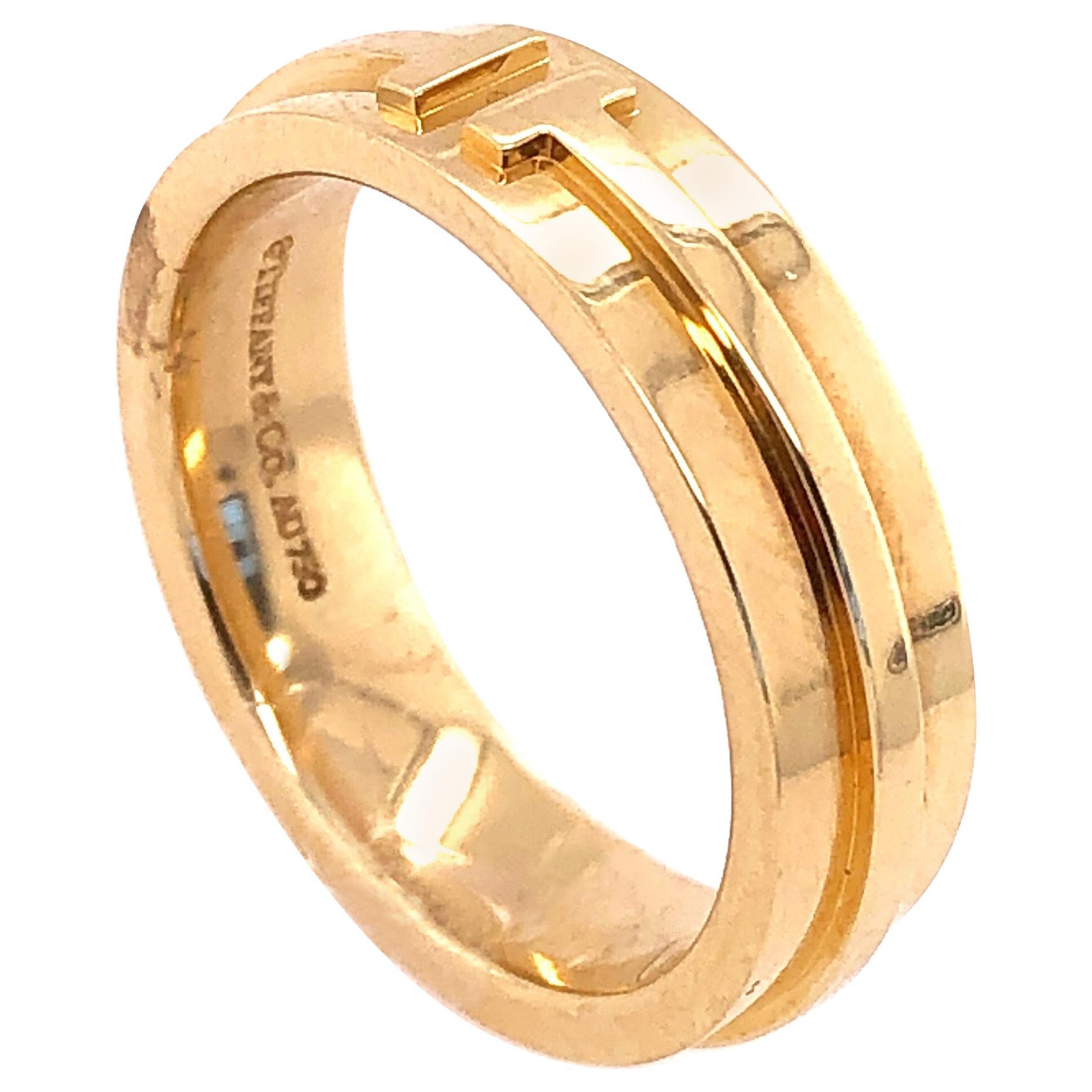 Tiffany & Co. 18 Karat Yellow Gold Wedding Ring / Band