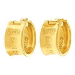 """Tiffany & Co. """"1837"""" Hoop Earrings"""