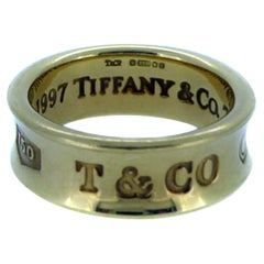 "Tiffany & Co. ""1837"" Ring, Yellow Gold Band"