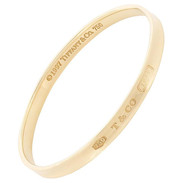 c73e6b734 Tiffany and Co. '1837' Solid Gold Bangle, circa 1997 For Sale at 1stdibs