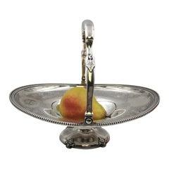 Tiffany & Co. 1860s Sterling Silver Basket Centerpiece Bowl