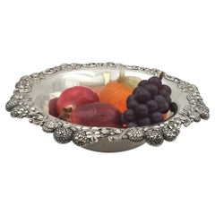 Tiffany & Co. 1898 Large Sterling Silver Berry Clover Bowl in Art Nouveau Style