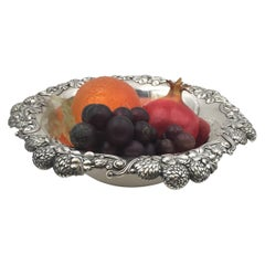 Tiffany & Co. 1898 Sterling Silver Clover Berry Bowl in Art Nouveau Style
