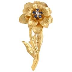 Tiffany & Co., 18 Karat Gold and Sapphire Brooch