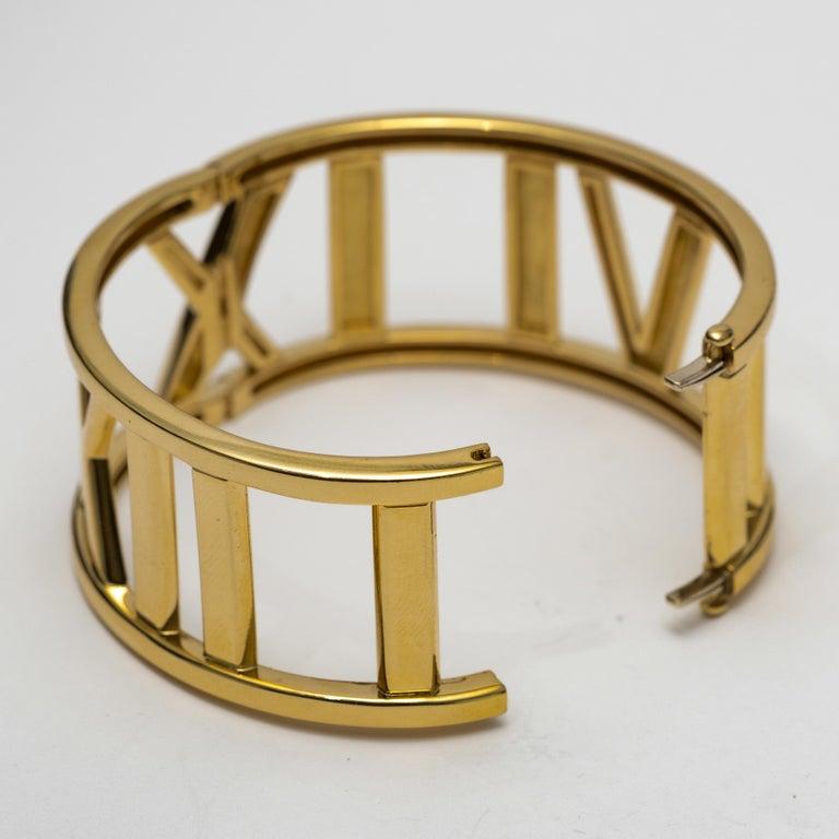 Modern Tiffany & Co. 18k Gold Atlas Large Hinged Cuff Bracelet