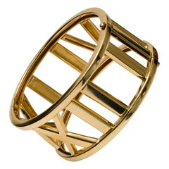 Tiffany & Co. 18k Gold Atlas Large Hinged Cuff Bracelet
