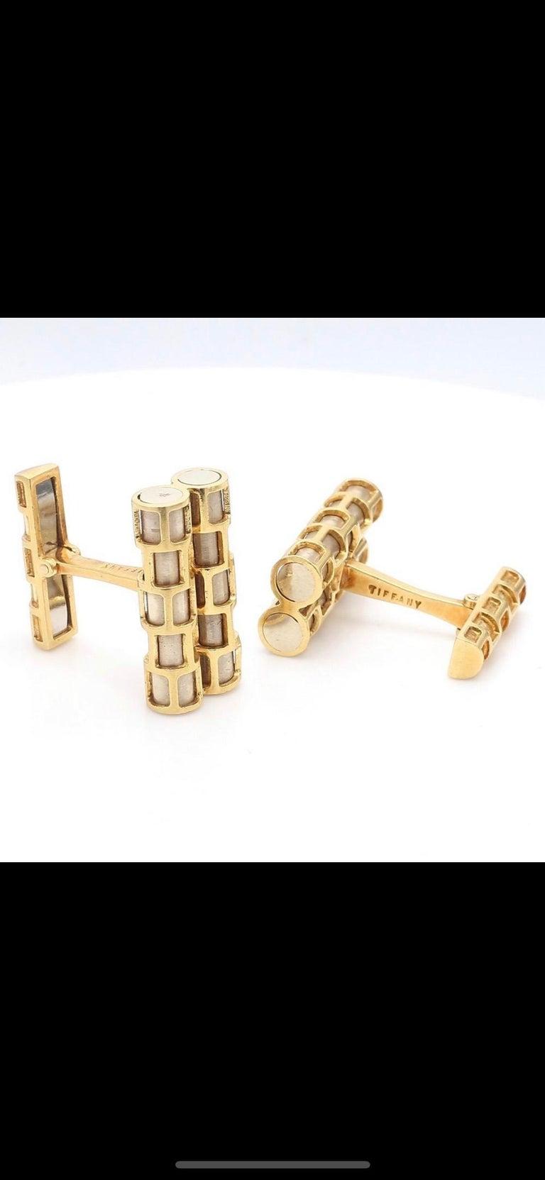 Women's Tiffany & Co. 18 Karat Gold Cuflinks For Sale