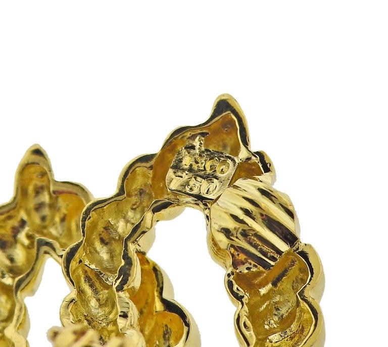 Women's Tiffany & Co. 18 Karat Gold Earrings For Sale