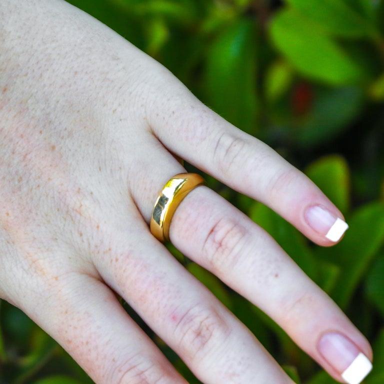 Women's or Men's Tiffany & Co. 18k Gold Ring For Sale