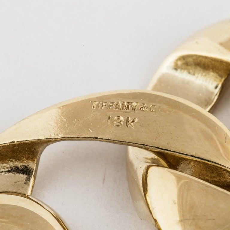 Tiffany & Co. 18 Karat Heart Link Bracelet For Sale 1