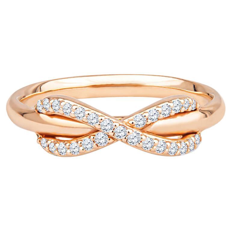 Tiffany & Co. 18K Rose Gold .13ctw Diamond Infinity Ring