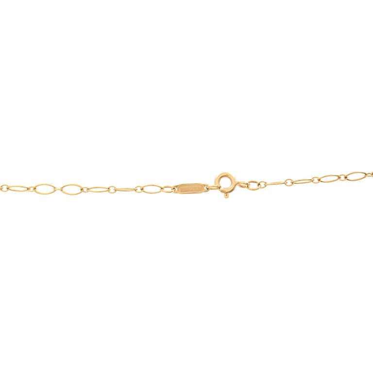 Tiffany & Co. 18k Rose Gold Key Pendant Chain Necklace In Excellent Condition For Sale In New York, NY
