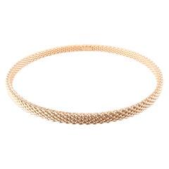 Tiffany & Co. 18K Rose Gold Somerset Mesh Bangle Bracelet