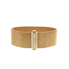 Tiffany & Co 18K Rose Gold Summerest Mesh Bracelet
