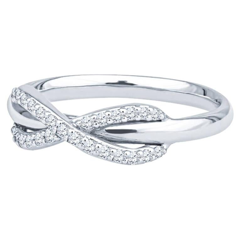 Tiffany & Co. 18K White Gold .13ctw Diamond Infinity Ring For Sale