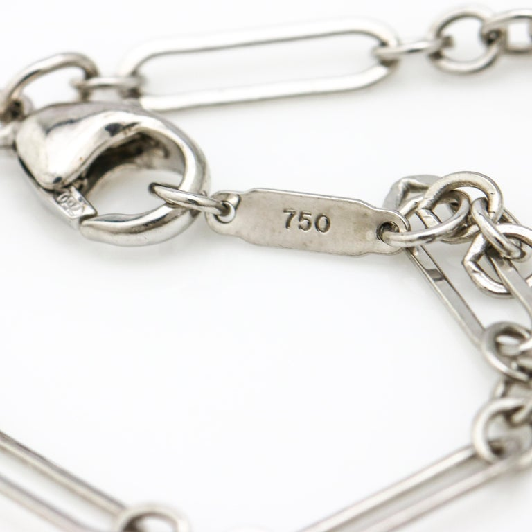 Tiffany & Co. 18 Karat White Gold Heart Pendant Necklace For Sale 2