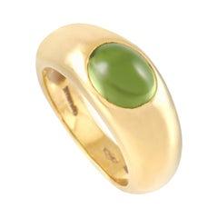 Tiffany & Co. 18K Yellow Gold 0.37 Ct Peridot Ring
