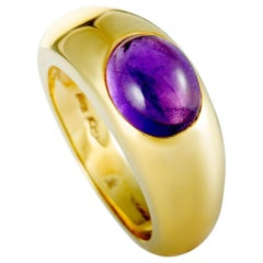Tiffany & Co. 18 Karat Yellow Gold Amethyst Band Ring